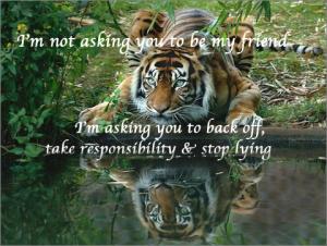 Tiger Reflecting Green Eyes Pond