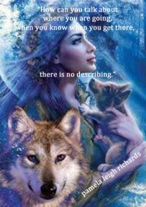 Lady Wolf Blue Gaze Quote Pamela