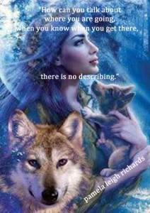 Lady Wolf Blue Gaze Quote Pamela