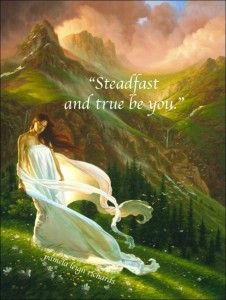 Lady Green Golden Rolling Hills Pamela quote Steadfast True be you
