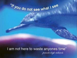 Samadai Dolphin pamela quote