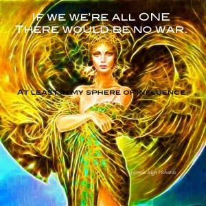 Fractal Lady Golden Green Pamela quote
