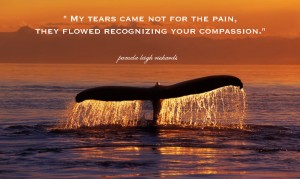 Pamela quote Life in loving peace whale tale
