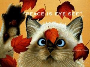 Cat Eyes Falling Leaves Pamela quote