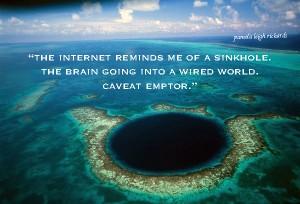 Cosmic Sinkhole Pamelas quote