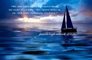 Blue Sailing Ocean pamela quote
