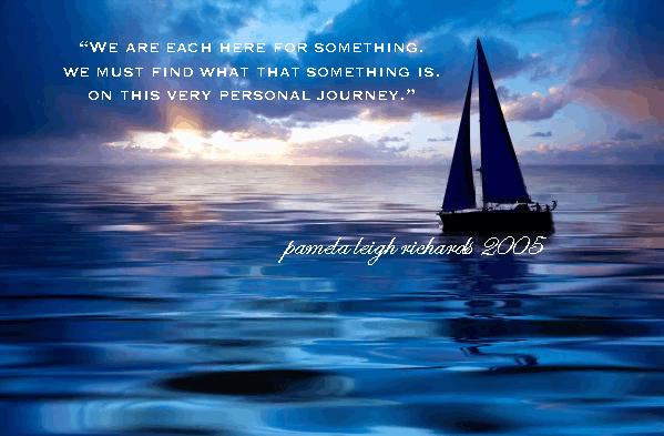 Great Sailing Quotes: Pamela Leigh Richards » Blue Sailing Ocean Pamela Quote