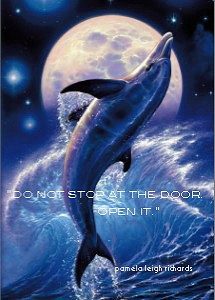 Dolphin Blue Ocean Pamela Quote