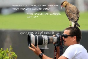 Eagle Man camera Pamela Quote Where You Look