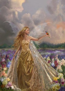 Lady Gold Wings Bird