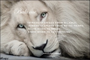 White Lion Pamela quote