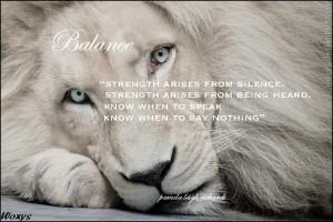 White Lion Pamela quote