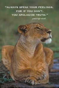 Lioness Pamela quote