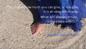 Pamela quote Sands of Shagra