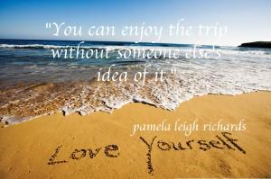 Pamela quote love yourself istock photo