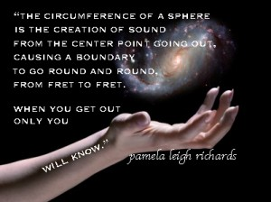 Pamela quote sphere galaxy hand
