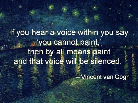 Pamela Leigh Richards » Paint quote Vincent van Gogh
