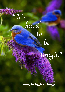 Blue-Bird-Purple-flower-pamela quote