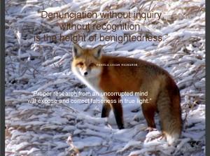 Pamela quote Fox in Snow