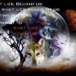 Girl Earth Wolf Thoreau Quote pamela edit