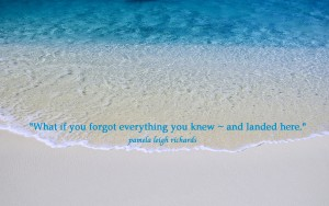 Beach wave blue pamela quote