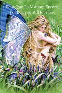 Lady Butterfly in the fields of green