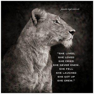 B-W Lioness Pamela quote 1