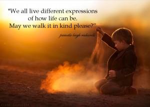 Elena Shumilova sunset child sand pamela quote