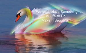 Swan Rainbow Pamela Quote