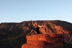 Pamela on Red Rock