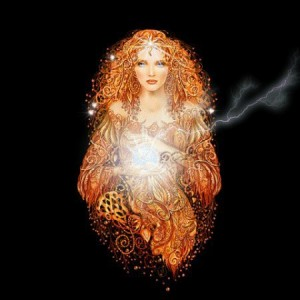 Lady light golden