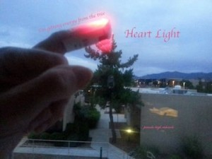 Pamela taking photo from hospital room. Heart Light 2