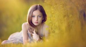 Beautiful Girl Meadow
