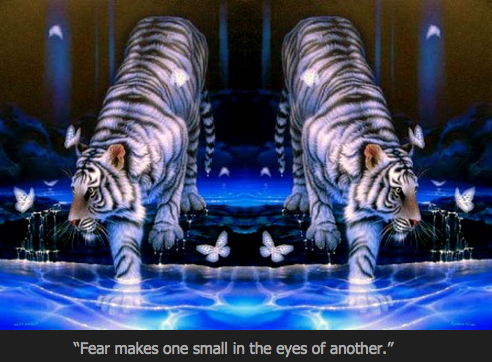 Fear riding the tiger