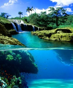Split-View-Waterfall-Hawaii