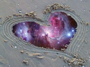 Heart Sand Universe Illusion