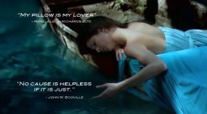 Lady canoe water blue